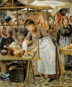 Día de mercado - Camille Pissarro