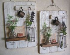 Wire Crafts, Diy And Crafts, Handmade Home Decor, Diy Home Decor, Wood Projects, Woodworking Projects, Decoupage Vintage, Home And Deco, Diy Garden Decor
