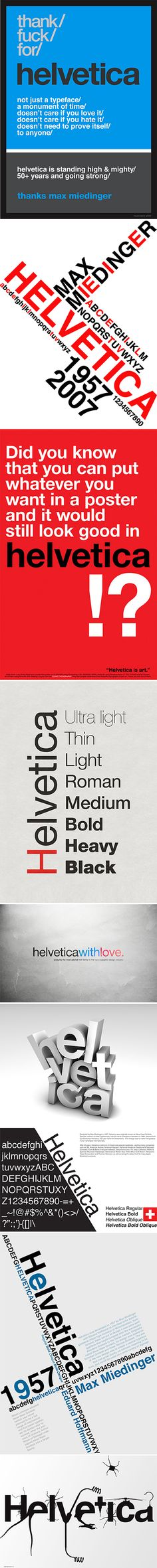 Helvetica : Thank You Max Miedinger. If you love typography, you will probably love these Helvetica based typographic posters. Smart Design, Web Design, Logo Design, Graphic Design, Typography Letters, Typography Design, Lettering, Max Miedinger, Typographic Poster