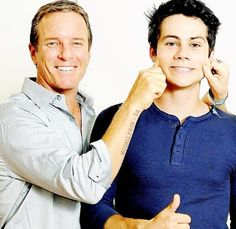 Linden Ashby and Dylan O'brien whom play my favorite Teen Wolf characters! Stilinski boys!