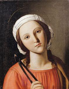 Saint Apollonia / Santa Apolonia // 17th century // Giovanni Battista Salvi da Sassoferrato // © Basiilica della Misericordia // Piazza San Vincenzo Strambi