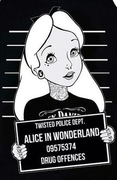 RebelCircus.Com, Alice In Wonderland. Mug Shot. ☻