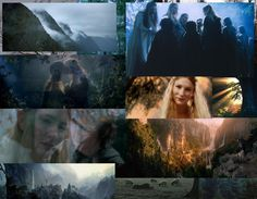 lord of the rings lothlorien galadriel moodboard mywall desktop wallpaper