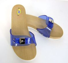 544f04bd8598 Scholls original exercise sandals 10 blue jelly wood made in italy  excellent product description dr.Scholls original exercise sandals in a  ladies size Made ...