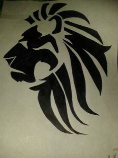 Tribal Lion Tattoo Sketch