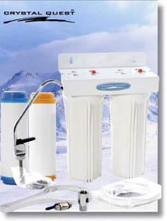 Undersink Fluoride Water Filter System Double Canister