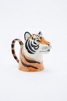 Shop Tiger Jug at Urban Outfitters today. We carry all the latest styles, colours and brands for you to choose from right here. Urban Outfitters, My Cup Of Tea, Milk Jug, Carafe, Decoration, Stoneware, Hand Painted, Ceramics, Coffee