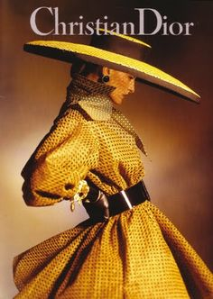 1960's style couture. Christian Dior yellow and black in perfect proportions.