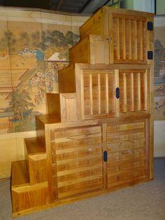 JAPANESE STEP TANSU CHEST | Japanese Step Tansu | Japanese Antiques Tansu U0026  Furniture   Kuraya