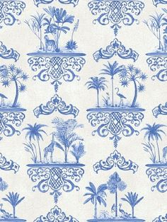 DecoratorsBest - Detail1 - CS 99/9037 - ROUSSEAU-COBALT BLUE - Wallpaper - DecoratorsBest