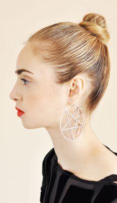 Pamela Love Small Pentagram Earring