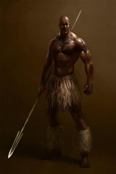 Hombre onbeyo masculino guerrero