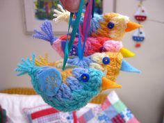 Mini Crochet Bird, great tutorial by Bunny Mummy