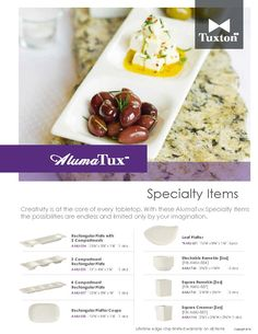 Creativity is at the core of every tabletop.  With these AlumaTux Specialty Items the possibilities are endless and limited only by your imagination.