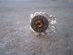 Bullet Vintage Ring Citrine. $10.00, via Etsy.