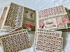 Cheryl's Paper Creations: *Sold* Stamperia Spring Mini Album By Cheryl's Paper Creations Mini Scrapbook Albums, Mini Albums, Scrapbook Pages, Scrapbooking, Happy Mail, Memory Books, Hello Everyone, Projects To Try, Decorative Boxes
