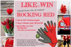 Like and win on our Facebook page the glove of the month February: rocking red.