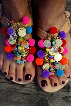 Sandals Jelly Tots handmade to order by ElinaLinardaki on Etsy