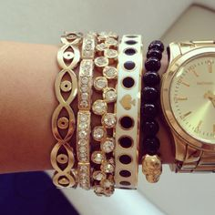 Emmy DE * Forever 21 Jewelry - Pop of chic Jewelry - Kate Spade Jewelry - Michael Kors Watch - Low Luv X Erin Wasson Jewelry