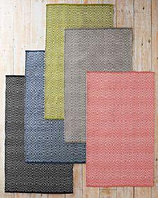 Vacuum/wipe/hose clean. Diamond Indoor-Outdoor Woven Rug by Dash & Albert - Garnet Hill