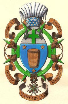 Order of St. Lazarus, Arms of King Kigeli V of Rwanda by Spanish heraldic artist Carlos Navarro