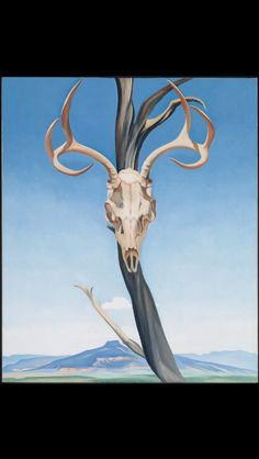 This oil painting, 'Deer's Skull with Pedernal' was done by Georgia O'Keeffe. I like this as it has a good perspective point and you can really tell how far away the background is compared to the foreground.