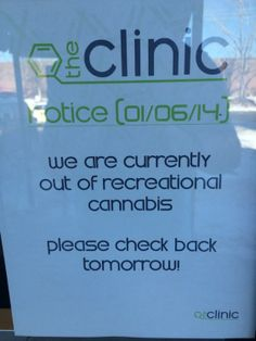 "Weed - Denver's Recreational Dispensaries Have Officially Run Out of ""Legal Weed"""