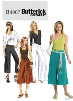 Butterick 4807 - hmm... need new pants too; may need to grab this while it's on sale this week!