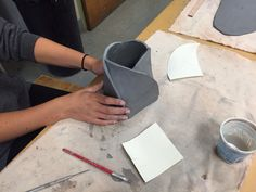 Megan H - ceramics I - building with a template