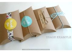 this site has great craft & party supplies like these pillow boxes
