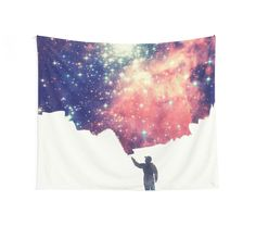 Galaxy painting stars universe colorful home decor   Painting the universe (Colorful Negative Space Art) by badbugs