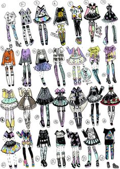 Pastel goth outfit ideas