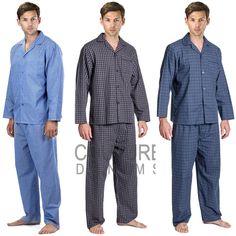Mens PJ's Pyjama Set Flannel Pyjamas Lounge Wear Bottoms Trouser Nightwear Shirt | eBay