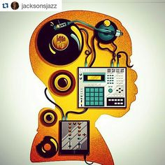 "maschinemasters: ""S/o and follow @jacksonsjazz ・・・ My brain. Most of the time. #Maschinemasters #Producersgear #mpc #turntable #mixer #speakers """