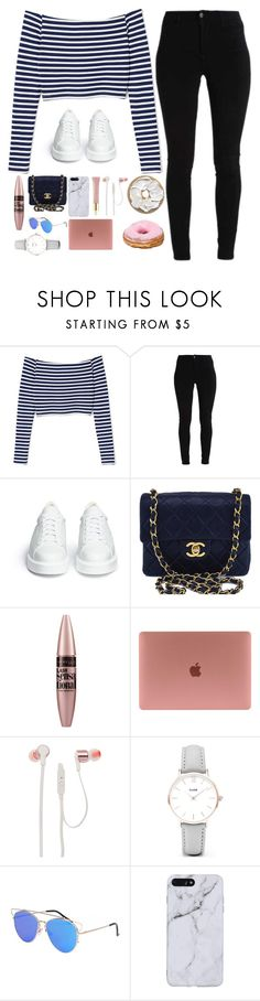 """""""Untitled #229"""" by i-am-cool-girl ❤ liked on Polyvore featuring Robert Clergerie, Chanel, Maybelline, JBL, CLUSE and AERIN"""
