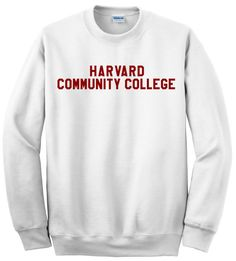 Harvard Community College Sweater  Free Shipping  by impulsee