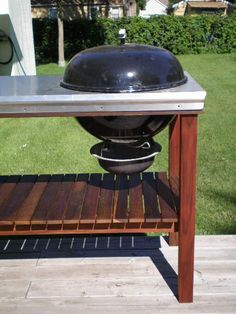 Build A Kettle Grill Table Weber Grill Station By