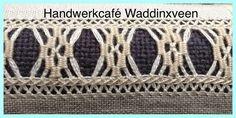 Lastig Deze zoom bestaat eigenlijk uit een samenstelling van 3 zomen: boven en onder een zigzag zoompje als zoom 2. Het midden is een... Hardanger Embroidery, Embroidery Patterns, Hand Embroidery, Drawn Thread, Thread Work, Filet Crochet, Diy Crochet, Different Stitches, Cut Work