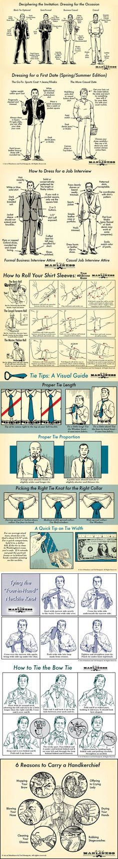 Cool infographic show how a man should dress which give tips and tricks on getting the perfect look. #tuxedo #style #styleformen #fashionformen #menstyle #suit #bowtie #tie #instafashion #fashion #SS15 #moda #blogmode #modehomme #fashionbloggeur #dapper #menstyle #elegant #smart #suitandties #classy #business #homme #smartlook #gentlook #menwithstyle #suitup #style #mytailorisfree #outfit #springfashion #quote #fashionquote #gentquote #gentlemen