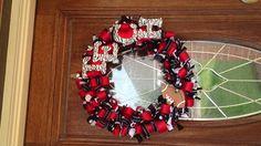 Texas Tech football ribbon wreath I made :)