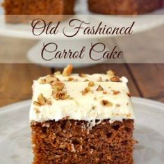Old Fashioned Carrot Cake recipe is just like grandma made and topped with the best homemade cream cheese frosting. A perfect Carrot Sheet Cake recipe..