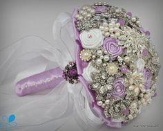 """Julia"" Lilac bouquet by Blue Petyl Lilac Bouquet, Broach Bouquet, Button Bouquet, Wedding Brooch Bouquets, Flower Bouquets, Purple Wedding, Trendy Wedding, Wedding Colors, Wedding Flowers"