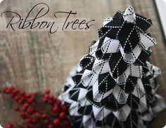 Whipperberry: Ribbon Christmas Trees {Tutorial}  Little variation on how I made mine