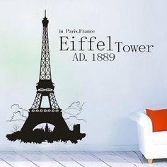 "23.6"" X 27.6"" Eiffel Tower in Paris Wall Decor Stickers Living Room Removable Wall Art Decal Sticker Decor Mural DIY Vinyl Décor Room Home by OKBUY WALL STICKERS, http://www.amazon.com/dp/B00CSISZ0Y/ref=cm_sw_r_pi_dp_-oD3rb1N6VF4D"