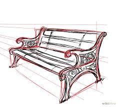 Image result for park bench sketch
