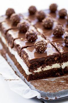 ... ferrero rocher cake ... #chocolates #sweet #yummy #delicious #food #chocolaterecipes #choco
