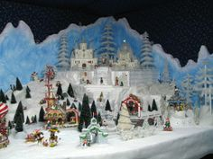 christmas village displays | North Pole Village Display made with Carved EPS Foam | Christmas