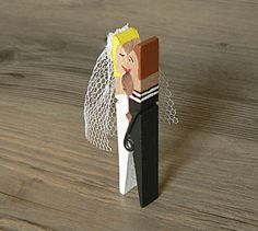 Wedding Table Setting Table Decor Clothespin Sale Wood by Arcina, $180.00