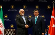 TURKEY (Ottoman Empire (ISLAM) Rising, wounded head in 1924 healed) and IRAN (Medo-Persia). ...  Iran's foreign minister, Mohammad Javad Zarif, left, with his Turkish counterpart, Ahmet Davutoglu, in Ankara, the Turkish capital, on Friday 11/1/2013 ...  Rev 13:3 Turkey's wounded head in 1924 healed is reviving, dealing with Iran.   Rev 17:9-11 Seven mnts (7 nations, 7 kings, 7 kingdoms): Five fallen (Egypt, Assyria, Iraq, Iran, Greece). One is (Islamic Rule), one yet to come (Turkey).