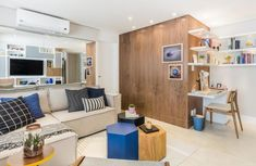Decoração de salas pequenas: lindas e alguma tem seu estilo. Blog Achados de Decoração Destaque: office e mesas de centro